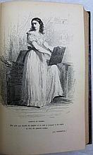 BALZAC (Honoré de). La Comédie humaine. Paris, Alexandre Houssiaux, 1855-1858. 20 volumes in-8, demi-veau rouge, dos orné de filets et fleurons dorés, tranches lisses (Reliure de l'époque).