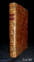 CAZOTTE (Jacques). Ollivier, poème. S.l. Paris, Panckoucke, 1763. 2 tomes en un volume in-12, veau jaspé, filet à froid, dos lisse orné d'un chat doré répété cinq fois dans des encadrements de filets, pièce de titre de maroquin bordeaux, tranches
