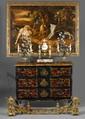 École contemporaine d'après Snyders Deux chiens d'arrêt Huile sur toile H.  60 cm - L.  120 cm