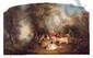 Nicolas LANCRET (dans le goût de).  Le Repas italien.  Huile sur toile, chantournée en haut.  H.  77,5 cm - L.  123 cm