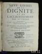 BACON (Francis). Neuf livres de la dignité et de l'accroissement des sciences. Seconde édition. Paris, Jacques Dugast, 1637. In-4, veau fauve, double filet, dos orné de fleurons dorés, tranches jaspées (Reliure de l'époque).