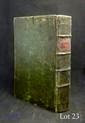 CARTOGRAPHIE. - Traité de géométrie du XVIIIe siècle enrichi de feuillets et dessins manuscrits d'un cartographe. In-8, vélin vert, pièce de titre rouge, tranches rouges (Reliure de l'époque).