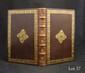 DOLCE (Lodovico). Le Trasformationi. Venise, Gabriel Giolito de Ferrari e fratel., 1553. In-4, veau brun, bordure dorée encadrée de deux jeux de filets à froid gras et maigres, médaillon doré au centre, dos orné de fleurons et filets dorés (Reliure