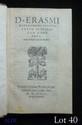 ÉRASME. Epistolarum floridarum liber unus. S.l. Paris, Chrétien Wechel, novembre 1531. In-8, basane fauve avec petits coins de vélin, dos lisse, pièce de titre brune, tranches jonquille (Reliure vers 1800).