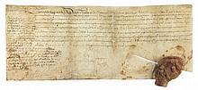 Roger de BUSSY-RABUTIN (1618-1693) lieutenant-général et écrivain, cousin de Mme de Sévigné. P.S. «Bussy Rabustin», Paris 15 avril 1658, en marge d'une P.S. de Louis XIV (secrétaire), contresignée par le secrétaire d'État à la Guerre Michel Le