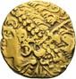AMBIENS (région d'Amiens, Somme), (2ème siècle avant JC). Statère d'or au flan large.