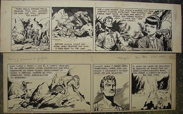 Burne Hogarth (American 1911-1996) TARZAN DAILY COMIC ORIGINAL ART (2)