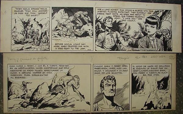 Burne Hogarth (American 1911-1996) TARZAN DAILY COMIC ORIGINAL ART (2)