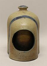 Cobalt Decorated Stoneware Chick Waterer & Miniature Basket
