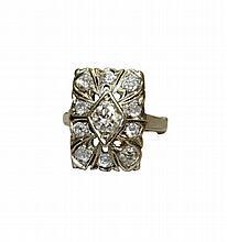 14K White Gold, Diamond Ring