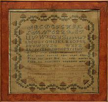 Sampler by Ruth Bennet, Age 13
