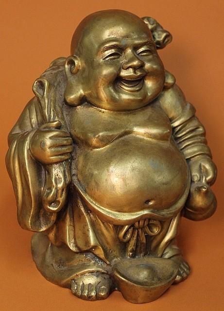 Gilt Bronze Figure of Hotei