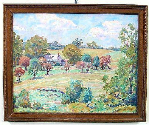 Joseph Grossman Impressionist country landscape,