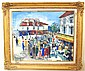 Lucien Genin CafÚ' street scene with musicians,, Lucien Génin, Click for value