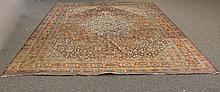 Hand made Persian Wool Rug, Uneven Wear, Low Spots, 12'9