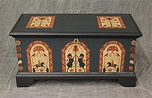 Miniature Hope Chest, Hand Designed and Crafted by DH and BB Heyl 1983, Good Condition, 10 1/2