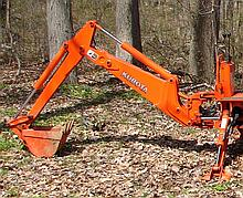 Kubota BH 75 Back Hoe with 11'' Bucket, 180 Degree Swing Arc, 120