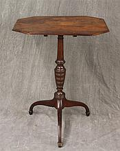 Tilt Top Candle Stand, Mahogany on Spider Legs 30