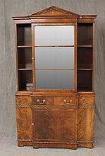 Trogdon, Secretary, Mahogany, Glazed Door, Step Back Shelving over One Panel Door, (Very Good Condition), 73