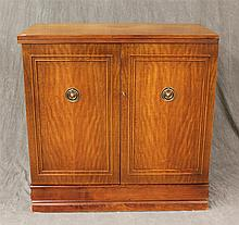 Saginaw Furniture, Henry P Glass Design, Bartender's Cabinet, Mahogany, Sliding Top Compartment over Two Dorrs with Shelving Interio..
