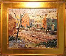 Kaiser, Don F., b.1958, Pennsylvania, Landscape. Oil on Canvas.