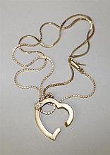 14KY Gold, Diamond Pendant on Chain