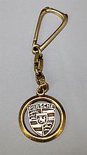 18KY Porsche Key Chain