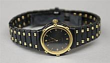 18KY Gold and Stainless Steel with Black, Ladies Concord La Costa Watch