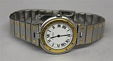 18KY Gold and Stainless Steel Cartier Wrist Watch
