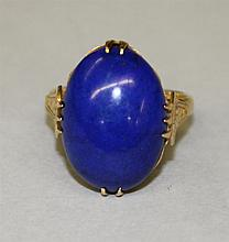 14KY Gold, Lapis Ring