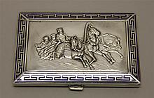 Enamel and Silver Calling Card Case