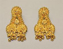 21K Yellow Gold Earrings