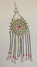 Silver, Coral Pendant
