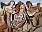 Vaclav Vytlacil Three Graces, oil and gouache on, Vaclav Vytlacil, Click for value