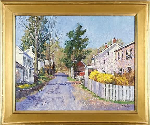 Ray Overpeck Spring in Erwina, oil on canvas, 24