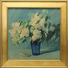 Mary Pemberton Ginther (1869-1959, Pennsylvania) White Lilacs