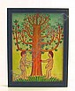 Primitive Style Painting of Adam and Eve By Jack, John Savitsky, Click for value