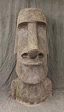 Moai Easter Island Head Resin Sculpture, 71