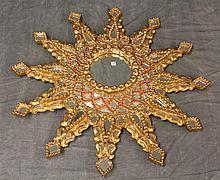 Gilt Mosiac Mirror of a Sun Design, 36