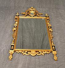 French Gilt Carved and Ebonized Mirror, 57