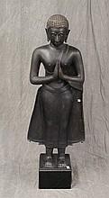 Buddha Sculpture, Patina Bronze, 55