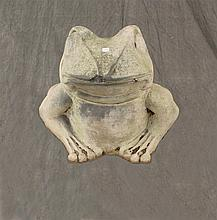 Concrete Statue of a Frog, 18