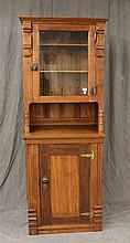 Victorian Eastlake Cabinet, Mixed Wood 77 1/2