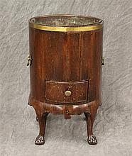 Georgian Wine Table/Cooler, Mahogany with a Single Drawer, Ball and Claw Feet, 18