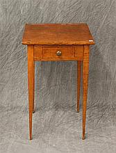 Hepplewhite Work Table with Tappered Legs, Mahogany, 26 1/2