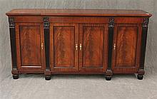 Baker-French Style Sideboard, Mahogany with Ebonized Trim, 36