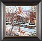 """Don Kaiser """"Girl with Sled"""", oil on canvas, 16"""" x"""