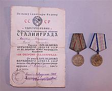 Pair of Soviet Medals