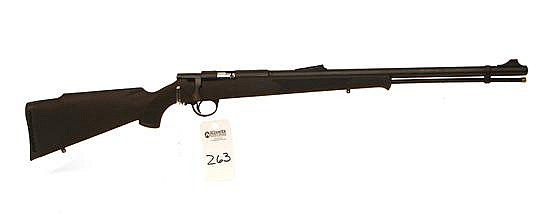 Connecticut Valley Arms Hunterbolt Magnum percussion cap black powder rifle. 50 Cal. 24