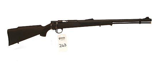 Connecticut Valley Arms Hunterbolt Magnum percussion cap black powder rifle. 50 Cal. 24